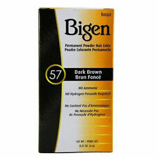 Hoyu Bigen Permanent Powder Hair Color Gray Coverage 0.21oz #57 Dark Brown