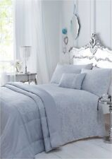 DOUBLE BED DUVET COVER SET MAXWELL SKY BLUE QUALITY FLORAL LUXURY JACQUARD