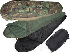 USGI 4pc Modular Sleep System MSS Woodland Camo Sleeping Bag Very Good Conditon