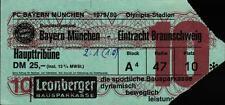 Ticket BL 79/80 FC Bayern München - Eintracht Braunschweig