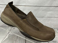 Merrell Primo Moc II Coffee Brown Leather Slip On Shoes Caushion Air Womens Sz 9