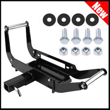 Foldable Winch Mounting Plate Cradle Mount For 2'' Hitch Receiver 4WD SUV Truck
