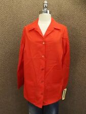 NEW Vtg USA Made Bold Red Lab Coat Sz 46 Smock Scrub Medical Art Chef Jacket
