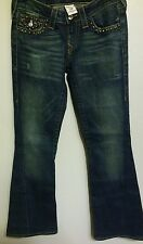 True Religion Womens Jeans Joey Size 27 Low Rise Flare
