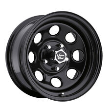 "4-NEW Vision 85 Soft 8 16x8 5x114.3/5x4.5"" +0mm Gloss Black Wheels Rims"