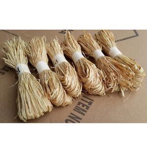 1 pc/set raffia natural reed tying craft ribbon paper twine 30g^lk