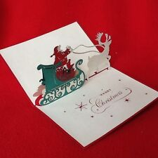 Beautiful and Fun 3D Pop Up Handmade Merry Christmas Card! 10% donation to.