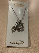 More details for tinker bell with flowers swarovski crystal necklace by arribas  brand new