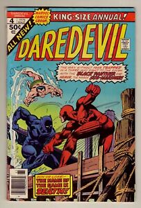 Daredevil Annual #4 - 1976 Marvel - Black Panther & Sub-Mariner - VG/Fine (5.0)