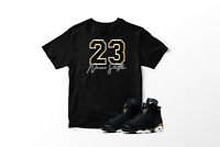 23 Never Settle Graphic T-Shirt to Match Air Jordan 6 Retro DMP All Sizes