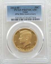 More details for 2014-w kennedy hr 50c gold proof 3/4oz half dollar coin pcgs pr67 dc