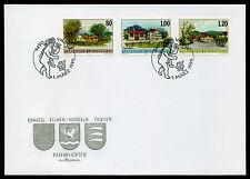 Liechtenstein 1999 FDC Mi-Nr. 1192-1194 Dorfansichten: Ruggell, Nendeln, Triesen