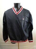 Vintage Jerzees Windbreaker Mens Sz XL  Black Pullover Nylon Athletic Sports
