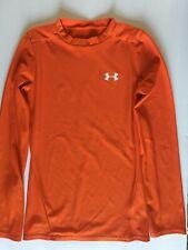 Under Armour Ym youth Boys or Girls M Medium Orange Base Layer LongSleeve Shirt