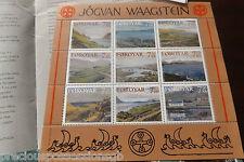 2005 FAROE ISLANDS MNH JOGVAN WAAGSTEIN SHEET S/S, END OF WAR MNH + FDC SET