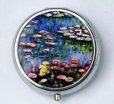 Water Lilies Pill case pillbox box holder fine art painting Claude Monet