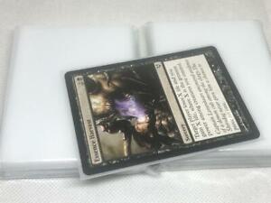 Lenayuyu 100pcs Half Transparent Standard MTG Card Sleeves 66x91mm Glossy