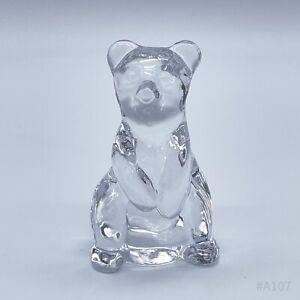 Vintage Glasfigur Bär aus Glas Bärenfigur Tierfigur Glaskunst Dekofigur - 6cm