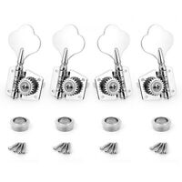 AKLOT Electric Bass Guitar Tuning Pegs Machine Heads Tuner 23:1 Chrome Advanced