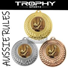 1 x AFL AUSSIE RULES FOOTY 50mm medal trophy FREE Engraving, Ribbon & POST