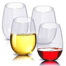 4PCS/Set PCTG Red Wine Glassware Shatterproof Plastic Wine Tumbler Glasses Cups