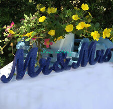Wedding signs sweetheart table sign mr and mrs glitter for wedding table decorat
