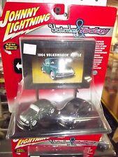 JL case of 6 1/64 Yesterday & Today Volkswagen beetle 2 pack w/billboard NIB