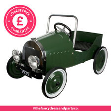 Green Pedal Powered Ride-On Classic Sports Car Steel For 3-4Years Up To 35kg