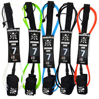 Surfboard Leash und SUP Board Leash mit Rail Saver 7' Sicherungsleine
