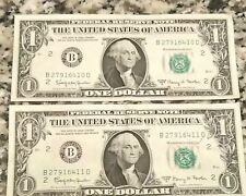 $1 DOLLAR BILLS 1963 Numerical Order SERIAL NUMBERS USA Money Circulated LOT