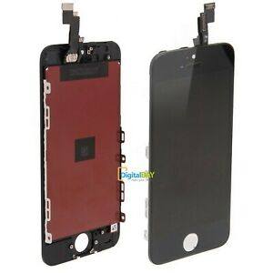 LCD DISPLAY RETINA VETRO SCHERMO NERO FRAME PER APPLE TOUCH SCREEN IPHONE 5S