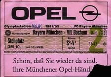Ticket BL 91/92 FC Bayern München - VfL Bochum