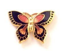 Butterfly Cloisonné Hand-Painted Lapel Pin Badge Cute In Quality Gift Box