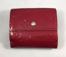Authentic Louis Vuitton Monogram Vernis Compact Red Patent Leather Wallet