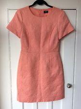 07ec7e5d6521 Oasis Coral Floral Jacquard Shift Dress, UK Size 10