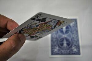 Magic Bicycle Shim Cards Pair - Shimmed Bicycle Cards Magic - 2 Cards - Close Up