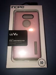 New Incipio DualPro Cover Dual Layer Protection For LG V30 in ROSE PINK/QUARTZ