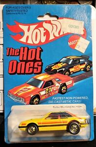 Vintage 1981 Hot Wheels The Hot Ones Turbo Mustang No. 1125 Blisterpack