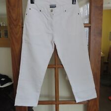 Western Trading White Crop Jeans Size 12 100% cotton immaculate