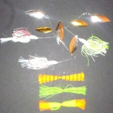 Manufacturer's Mix 7/8-1 Spinner Bait Package (Lot of 3+3 Extra Skirts-SB11)