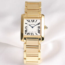 Cartier Midsize Tank Francaise W50014N2 18K Yellow Gold