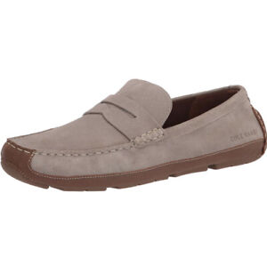 Men Cole Haan Wyatt Penny Driver Driving Style Loafer Suede Vintage Khaki C30972