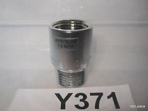 """Faucet Aerator Omni A112 18.1m 1.5 GPM Chrome / Stainless 15/16"""" OD Threads"""