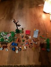 Large Bundle Playmobil 100 plus items, Woodland Animals, Princess Dining Set Etc