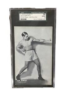 JACK DEMPSEY ~ 1920's Exhibit Cards - SGC Graded 30(2) Good ~ FREE SHIPPING!