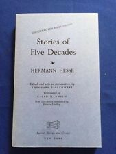 STORIES OF FIVE DECADES - UNCORRECTED PROOF BY HERMANN HESSE