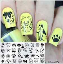 Nail Art Stamping Image Plate Stencil Cute Cat Design Manicure Harunouta-L016