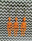 3 Vintage Plastic Skeleton Keychains Jointed Halloween Plastic Charms Vending 💀