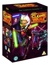 STAR WARS CLONE WARS Complete Season Series 1 2 3 4 5 Boxset NEW DVD R4