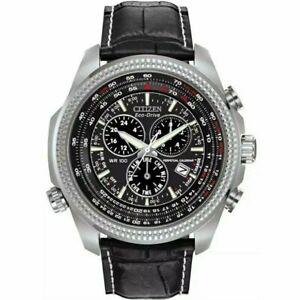 Citizen Eco-drive Perpetual Calendar Chronograph Leather Strap Watch BL5401-09E